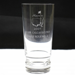 2007 Masters Awarded Eagle Hole #2 Crystal Highball Glass - Mark Calcavecchia Collection