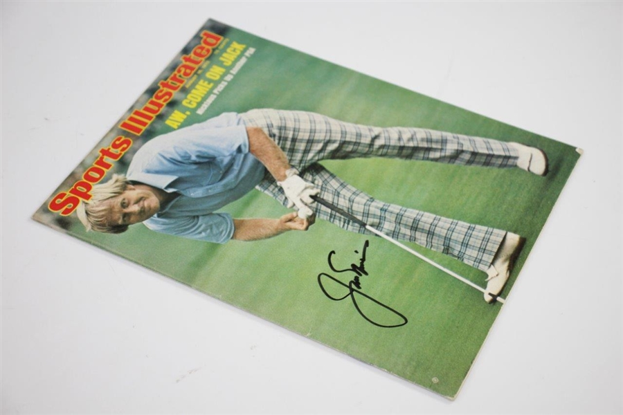 Jack Nicklaus Signed August 18, 1975 Sports Illustrated Magazine JSA #H68907
