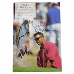 Tiger Woods, Butch Harmon, & Fluff Signed 1997 OPEN Magazine Page FULL JSA #X61190