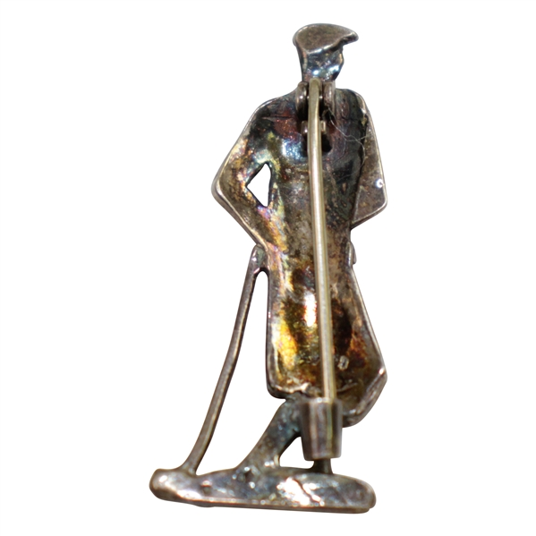 Male Golfer at Resting Stance Decorative Pin