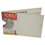 """Fore!"" Clever Golf Themed Advertising Card by The Pockrandt Paint Co. - Akron, OH."