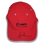 Tiger Woods Signed Red HERO World Challenge Hat - Unused FULL JSA #Z27626