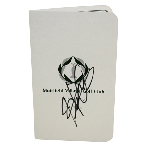 Hideki Matsuyama Autographed Signed The Memorial Tournament at Muirfield Score Card - Certified Authentic