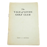 1947 The Vale of Leven Golf Club Official Handbook by Robert H.K. Browning