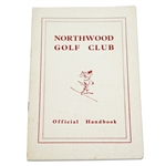 Circa 1954 Northwood Golf Club Official Handbook with Alastair Johnston Bookplate
