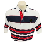 Mark Calcavecchias 1989 Ryder Cup USA Team Issued Red/White/Blue Short Sleeve Shirt- XL