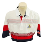 Mark Calcavecchias 1991 Ryder Cup USA Team Issued Red/White/Blue Short Sleeve Shirt- XXL