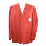Ken Venturis Personal 1964 USGA Open at Congressional Country Club Red Jacket