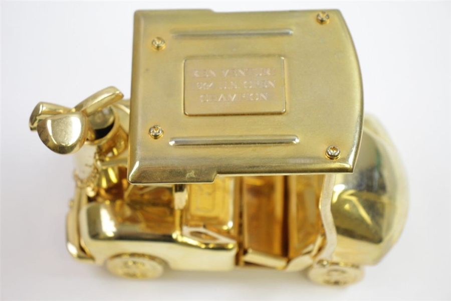 Ken Venturi's Personal Gold Colored Golf Cart with 'Ken Venturi 1964 U.S. Open Champion'