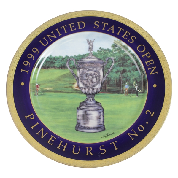 Ken Venturi's Personal 1999 US Open at Pinehurst No. 2 Merry Scotland Designs Plate