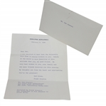 Ken Venturis Congratulatory Typed Letter from Frank Sinatra with Envelope - 2/8/1988