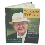 Ken Venturis Quotable Byron Book Signed & Inscribed by Byron Nelson JSA ALOA