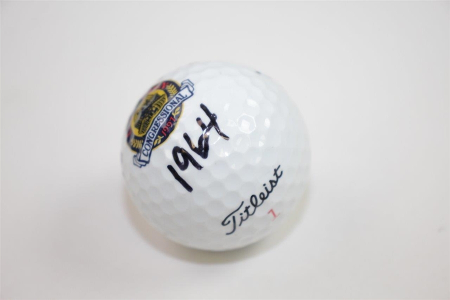 Ken Venturi's Personal Signed 1997 US Open at Congressional Logo Golf Ball with '1964' JSA ALOA