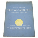 Ken Venturis Personal 1953 The Walker Cup at The Kittansett Club Official Program