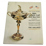 Ken Venturis Personal 1965 Ryder Cup at Royal Birkdale Official Program