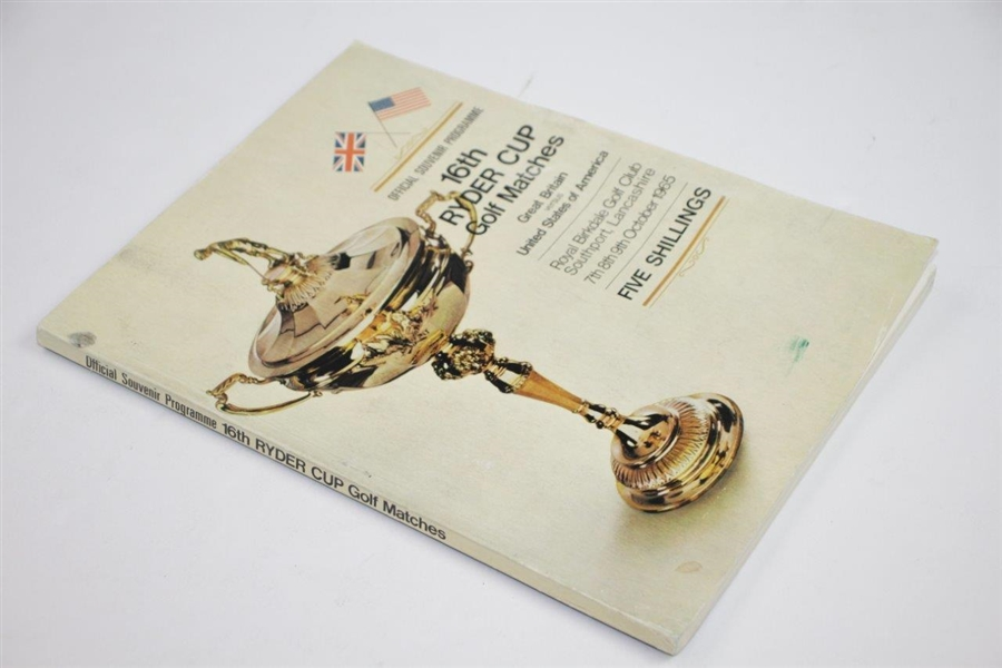 Ken Venturi's Personal 1965 Ryder Cup at Royal Birkdale Official Program