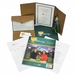 Ken Venturis Personal 2009 The Presidents Cup Invitation, Badges, Program, & more