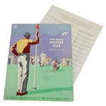 1947 Western Open at The Country Club Program & Pairing Sheet - Rod Munday Collection