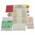1950s Eastern Open Tickets, Contestant Badges, Program, Pairing Sheets - Rod Munday Collection