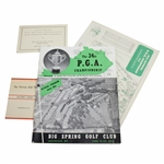 1952 PGA Championship at Big Spring GC Program, Scorecard, Pairing Sheets - Rod Munday Collection