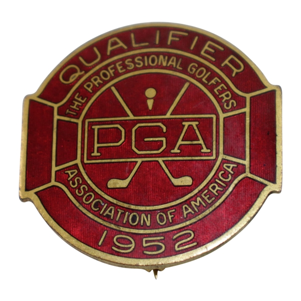 1952 PGA Championship at Big Spring GC Contestant Badge - Rod Munday Collection