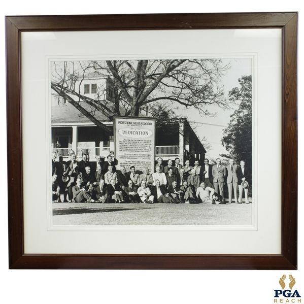 Dedication of PGA of America at Augusta National Golf Club Photo - Framed