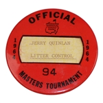 1964 Masters Tournament Officials Badge #94 - Arnold Palmers Final Green Jacket