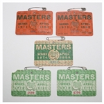 Five Masters Tournament Series Badges - 1971(x2), 1974, and 1978(x2)