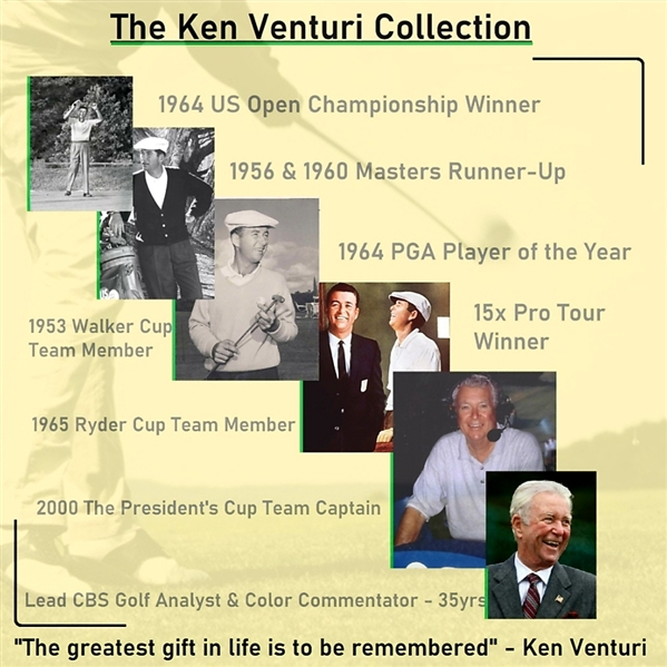 Ken Venturi's Personal Billy Casper Personal 'Billy Casper' Autograph Logo Golf Ball