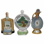1972, 1974, & 1979 Bing Crosby National Pro-Am Ltd Ed Decanters
