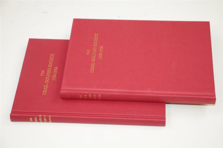 200 Years 'The Crail Golfing Society' 1786-1936 & 1936-1986 Deluxe Books in Slipcover