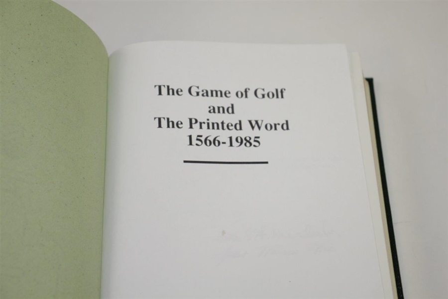 'The Game of Golf and The Printed Word 1566-1985' Ltd Ed #320/350 Book by Murdoch & Donovan