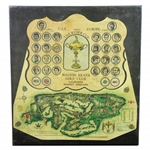 1981 The Ryder Cup at Walton Heath Signed By Both Teams James Izatt Topographical Map JSA ALOA