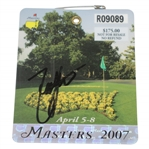 Zach Johnson Signed 2007 Masters Series Badge #R09089 JSA #Q05606