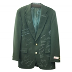 Impressive Multi-Signed Dark Green Mens Blazer With 34 Masters Champions Autographs! JSA ALOA