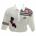 Mark Calcavecchias 1991 Ryder Cup USA Team Issued Fancy Short Sleeve Shirt - XXL