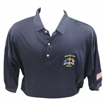 Mark Calcavecchias 1991 Ryder Cup USA Team Issued Dark Blue Short Sleeve Shirt - XXL
