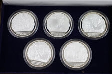 USGA Museum Ltd Ed Five Arnold Palmer Commemorative Victory Coins in Original Box with Cert