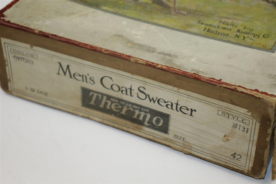Vintage Thermo Men's Coast Sweater Made by Swansdown Knitting Complete Box