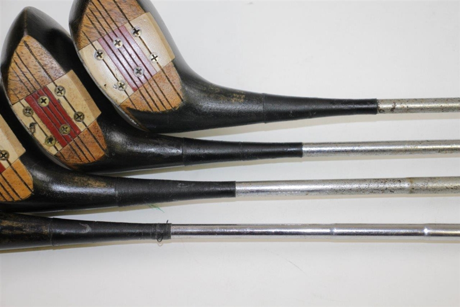 Set of Four MacGregor M75 Eye-O-Matic Tourney Woods