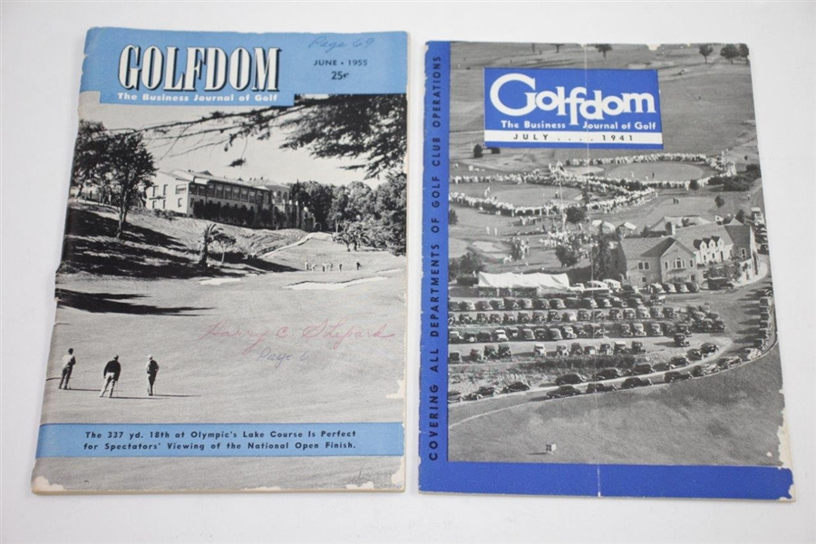 Five Vintage Golfdom Magazines - February 1940(x3), July 1941, & June 1955