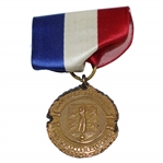 1944 Southern California Public Links Team Play Class E Champions Medal with Ribbon