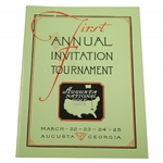 1934 Augusta Invitational Masters Tournament Reproduction Program