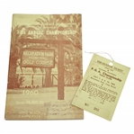 1960 Southern California P.G.A. Championship Official Program & Ticket #262