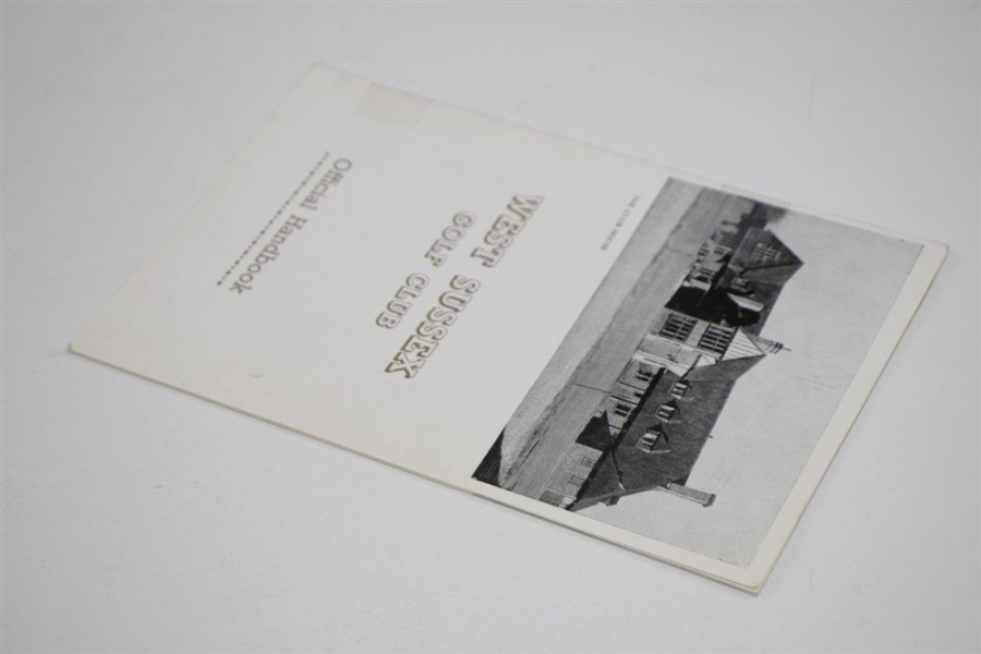 1968 West Sussex Golf Club Official Handbook by Henry Longhurst