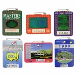 1991, 1993, 1994, 1995, 1998, & 1999 Masters Tournament Series Badges
