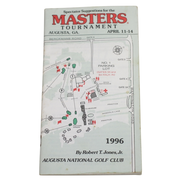 1996 Masters Tournament Spectator Guide - Nick Faldo Winner