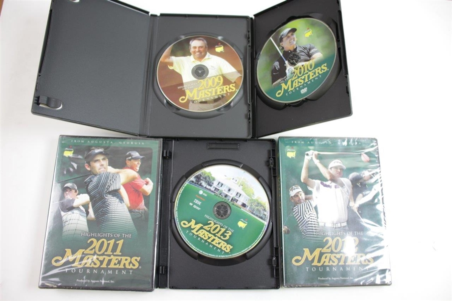 2009, 2010, 2011, 2012, & 2013 Official Masters Tournament 'Highlights' DVDs in Cases