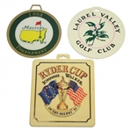 1998 Masters, 1993 Ryder Cup, & Laurel Valley Bag Tags (Arnold Palmer)