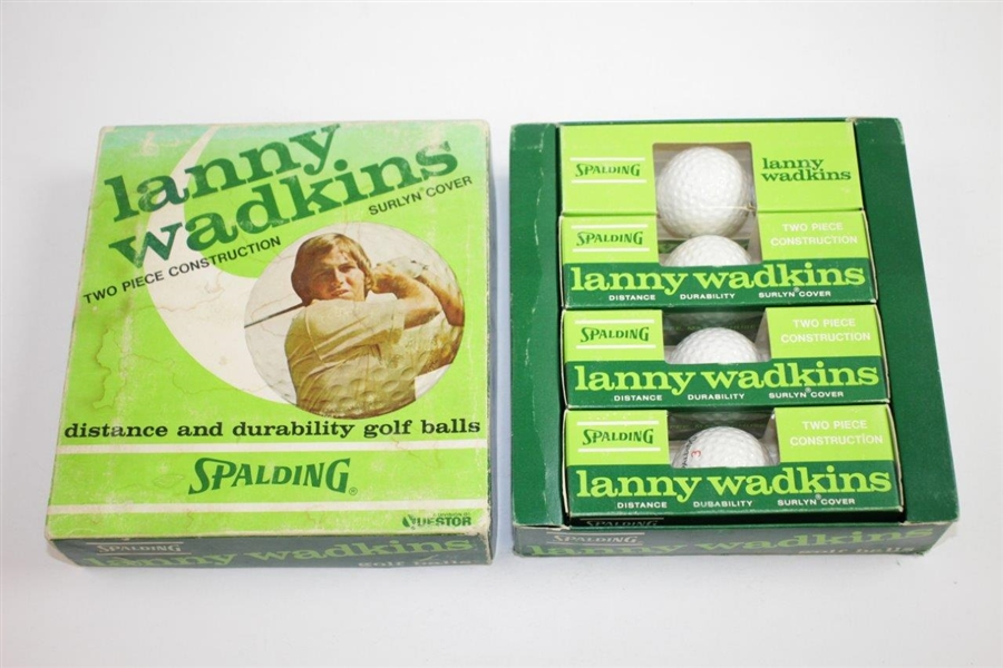 Box of Classic Dozen Lanny Wadkins Surlyn Cover Logo Golf Balls - Four Sleeves